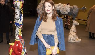Julianne Moore attends the Tory Burch fashion show at Sotheby's during NYFW Fall/Winter 2020 on Sunday, Feb. 9, 2020, in New York. (Photo by Charles Sykes/Invision/AP)