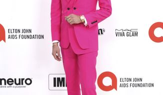 G-Eazy arrives at the 2020 Elton John AIDS Foundation Oscar Viewing Party on Sunday, Feb. 9, 2020, in West Hollywood, Calif. (Photo by Willy Sanjuan/Invision/AP)