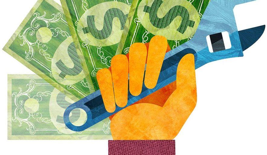 Raising the Minimum Wage Illustration by Greg Groesch/The Washington Times