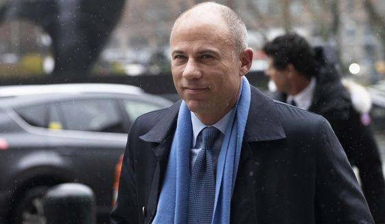 In this Dec. 17, 2019, file photo, California attorney Michael Avenatti arrives at federal court in New York. A California businessman who enlisted Avenatti to help his friend deal with two corrupt Nike executives testified Monday, Feb. 3, 2020, that he reacted with shock and horror when he learned the attorney was threatening to go public with his information. (AP Photo/Mark Lennihan, File)