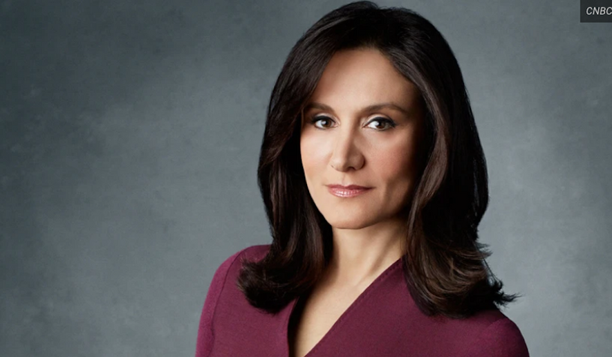 Michelle Caruso-Cabrera, who served as a CNBC correspondent and anchor for 20 years, has launched a challenge in the Democratic primary against Rep. Alexandria Ocasio-Cortez of New York. (CNBC)