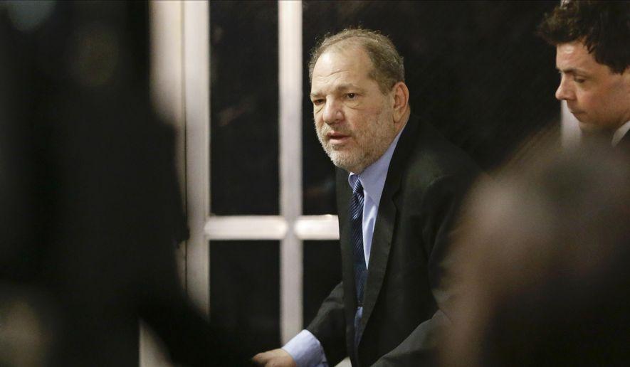 Harvey Weinstein leaves his trial Tuesday, Feb. 11, 2020, in New York. (AP Photo/Frank Franklin II)