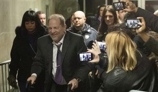 Harvey Weinstein leaves his trial, Monday, Feb. 10, 2020 in New York. (AP Photo/Mark Lennihan)