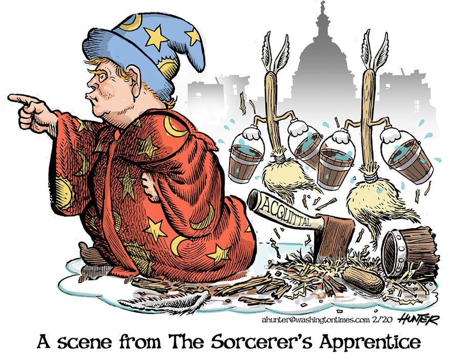 Illustration by Alexander Hunter for The Washington Times (published February 14, 2020)