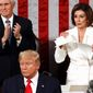 The public is not pleased by House Speaker Nancy Pelosi's decision to tear up her copy of President Trump's State of the Union address. (Associated Press)