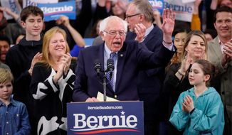 Democratic presidential candidate Sen. Bernard Sanders is the front-runner for the nomination, but the underlying numbers suggest he's lost support. (Associated Press)