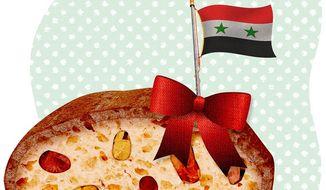 Syrian Fruitcake Illustration by Greg Groesch/The Washington Times