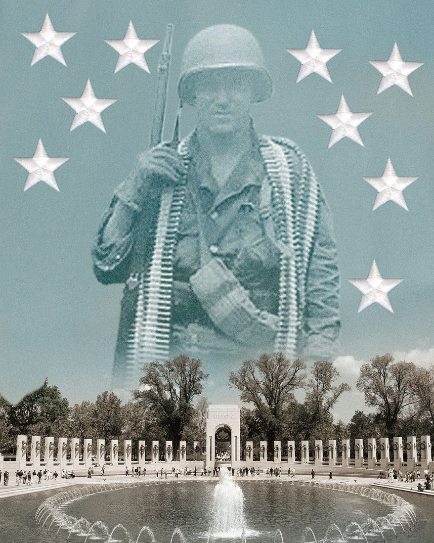 Honoring service members  illustration by Linas Garsys / The Washington Times