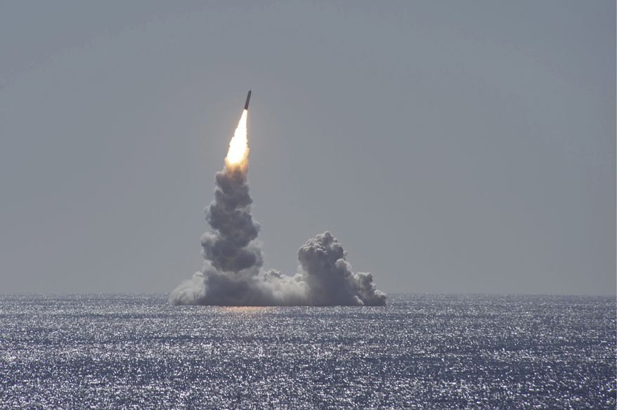 200212-N-EA818-0055  PACIFIC OCEAN (Feb. 12, 2020) An unarmed Trident II (D5LE) missile launches from the Ohio-class ballistic missile submarine USS Maine (SSBN 741) off the coast of San Diego, California, Feb. 12, 2020. The test launch was part of the U.S. Navy Strategic Systems Programs demonstration and shakedown operation certification process. The successful launch demonstrated the readiness of the SSBNs strategic weapon system and crew following the submarines engineered refueling overhaul. This launch marks 177 successful missile launches of the Trident II (D5 & D5LE) strategic weapon system. (U.S. Navy photo by Mass Communication Specialist 2nd Class Thomas Gooley/Released)
