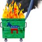 Democrat Dumpster Fire Illustration by Greg Groesch/The Washington Times