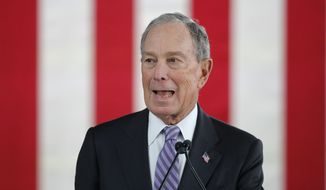 """This nation has a rich history of presidents who respected the power, decorum, and integrity of their office. Unfortunately, that rich history ended the day Trump became president,"" said the campaign of Democratic presidential candidate Michael R. Bloomberg. (Associated Press/File)"