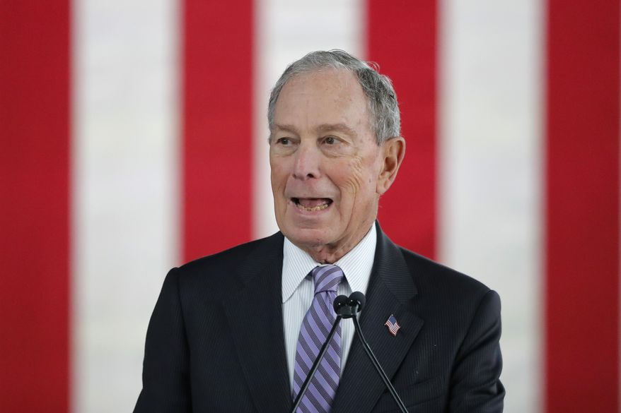 """""""This nation has a rich history of presidents who respected the power, decorum, and integrity of their office. Unfortunately, that rich history ended the day Trump became president,"""" said the campaign of Democratic presidential candidate Michael R. Bloomberg. (Associated Press/File)"""