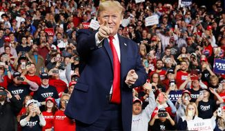 President Trump's campaign rallies have evolved to the point that he plans to continue hosting them, even if he wins in November. (Associated Press)