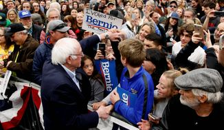 """""""Anybody making personal attacks against anybody else in my name is not part of our movement,"""" Sen. Bernard Sanders said about the harassment. (Associated Press)"""