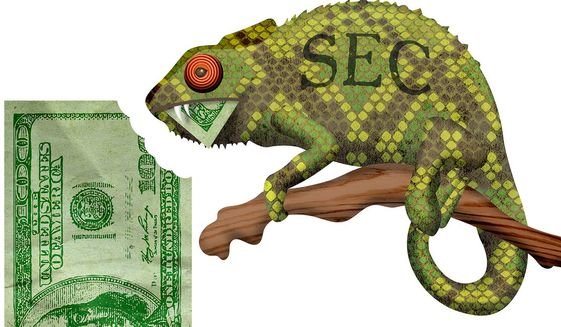 SEC Lizard Illustration by Greg Groesch/The Washington Times