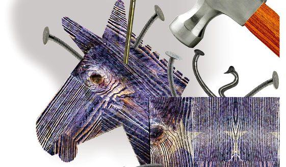 Illustration on Democrat conformity by Alexander Hunter/The Washington Times