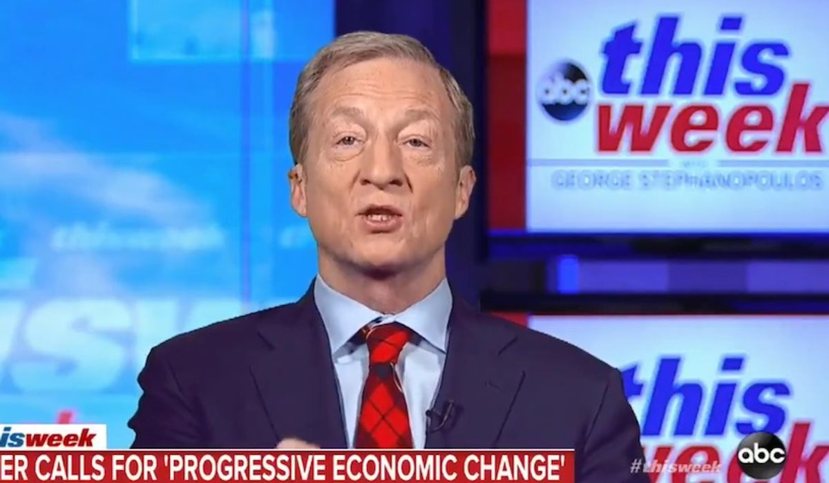 Tom Steyer to 70% of voters who say economy is strong: 'A different story ... has to be told'