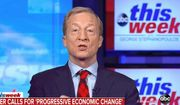 """Presidential hopeful Tom Steyer discusses the economy on ABC's """"The Week,"""" Feb. 16, 2020. (Image: ABC, """"This Week"""" video screenshot)"""