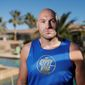 In this Thursday, Feb. 13, 2020, photo, boxer Tyson Fury poses for a portrait in Las Vegas. Fury is scheduled to fight a heavyweight rematch with WBC champion Deontay Wilder on Saturday in Las Vegas. (AP Photo/John Locher) **FILE**