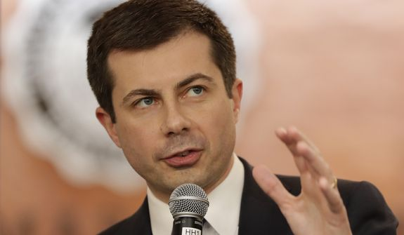 Democratic presidential candidate former South Bend, Ind., Mayor Pete Buttigieg speaks during a campaign event in Las Vegas, Tuesday, Feb. 18, 2020. (AP Photo/Matt York)