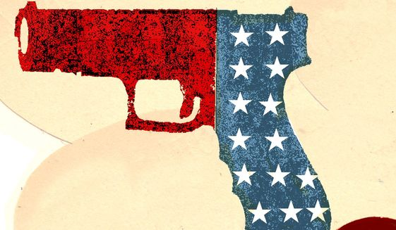 Illustration on gun policy by Donna Grethen/Tribune Content Agency