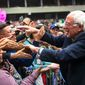 Democratic presidential candidate Sen. Bernard Sanders greets his fans during a recent campaign rally in Texas. (Associated Press)
