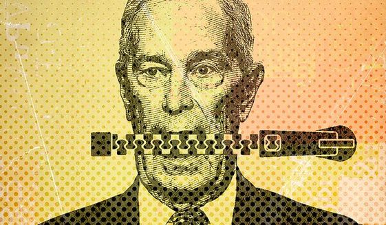 Bloomberg Mouth Illustration by Greg Groesch/The Washington Times
