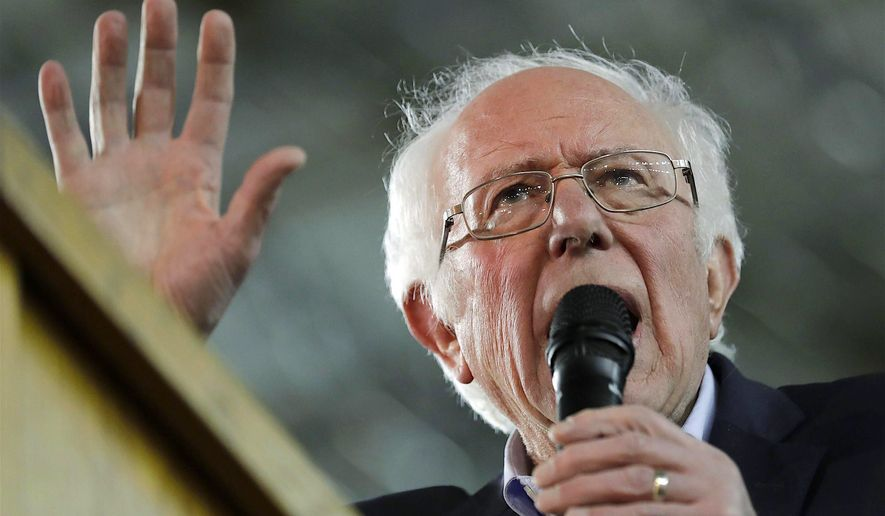 Democratic presidential candidate Sen. Bernie Sanders has his say at a campaign event in Tacoma, Washington, earlier this week. (Associated Press)