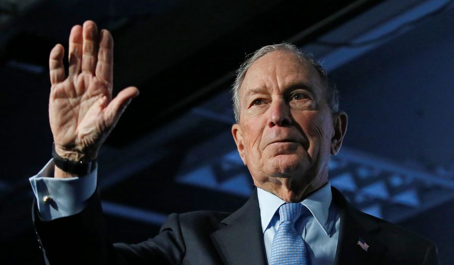 Democratic presidential candidate Mike R. Bloomberg's criminal justice reform plan stopped short of seeking to fully legalize marijuana, separating him from most of the other candidates seeking the nomination. (Associated Press)