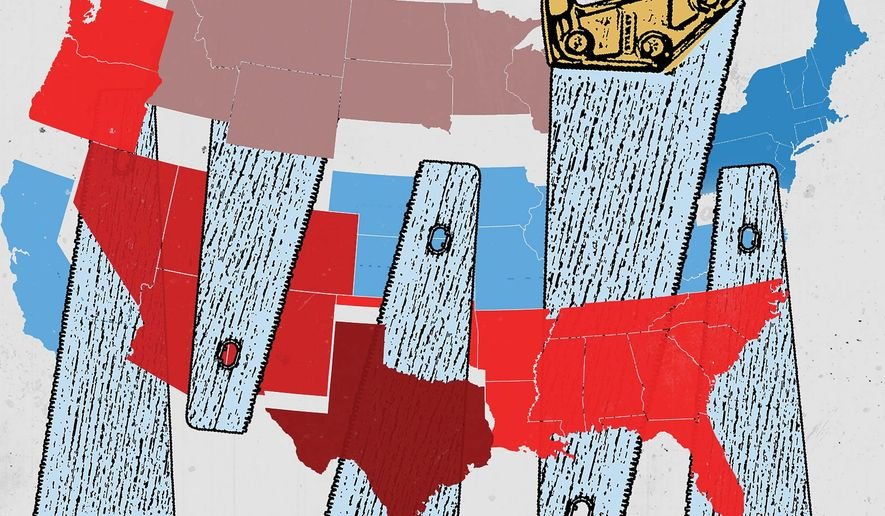 Embracing the state secession movement illustration by Linas Garsys / The Washington Times