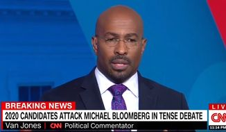"""CNN contributor Van Jones discusses the challenges facing """"mainline Democrats"""" in 2020. (Image: CNN video screenshot)"""