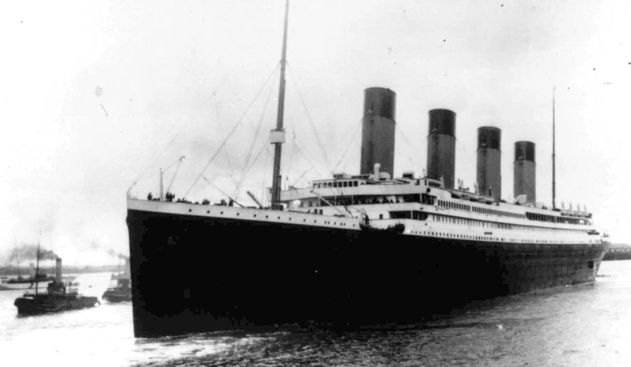 In this April 10, 1912, file photo the Titanic leaves Southampton, England on her maiden voyage. The salvage firm that has plucked artifacts from the sunken Titanic cruise ship over the decades is seeking a judge's permission to rescue more items from the rapidly deteriorating wreck. (AP Photo/File)