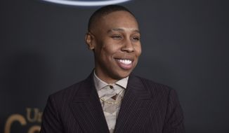 "Lena Waithe arrives at the 51st NAACP Image Awards at the Pasadena Civic Auditorium on Saturday, Feb. 22, 2020, in Pasadena, Calif. Waithe plays the voice of Officer Specter in Disney's new animated film ""Onward."" (Photo by Richard Shotwell/Invision/AP) ** FILE **"