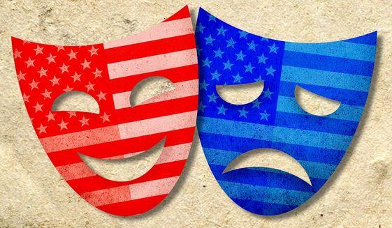 Political Masks Illustration by Greg Groesch/The Washington Times