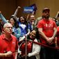 The Democratic candidates are courting unions with bills such as the Protection the Right to Organize Act in the Senate. (Associated Press)