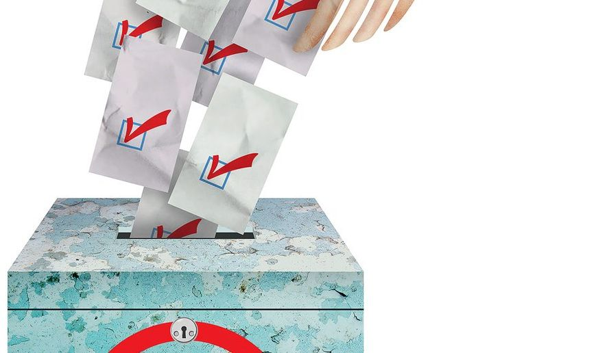 Buying the Ballot Box Illustration by Greg Groesch/The Washington Times