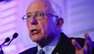 Democratic presidential candidate Sen. Bernie Sanders, I-Vt., speaks during First in the South Dinner, Monday, Feb. 24, 2020, in Charleston, S.C. (AP Photo/Matt Rourke)