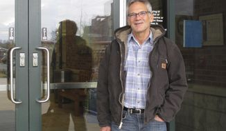 FILE - This April 26, 2016 file photo shows author Jon Krakauer in Bozeman, Mont.  The educational records of a star University of Montana quarterback accused of rape will remain confidential after the Supreme Court declined to get involved in the case brought by author Jon Krakauer.  (AP Photo/Matt Volz)
