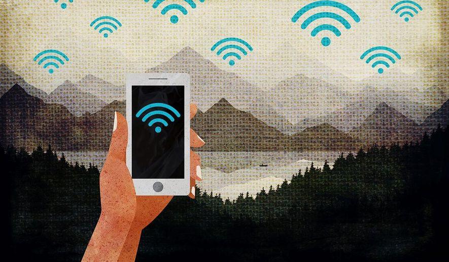 Wilderness WiFi Illustration by Greg Groesch/The Washington Times