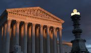 In this Jan. 24, 2019, photo, the Supreme Court is seen at sunset in Washington. The Supreme Court is ruling 5-4 to close the courthouse door on the parents of a Mexican teenager who was shot dead over the border by an American agent. The court's five conservative justices ruled Tuesday that the parents could not sue Border Patrol Agent Jesus Mesa Jr., who killed their unarmed 15-year-old son in 2010.  (AP Photo/J. Scott Applewhite) **FILE**