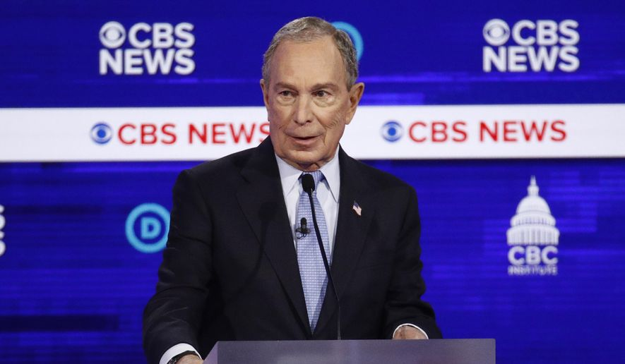 Democratic presidential candidates Michael R. Bloomberg promised to treat American Indians with respect. (Associated Press/File)
