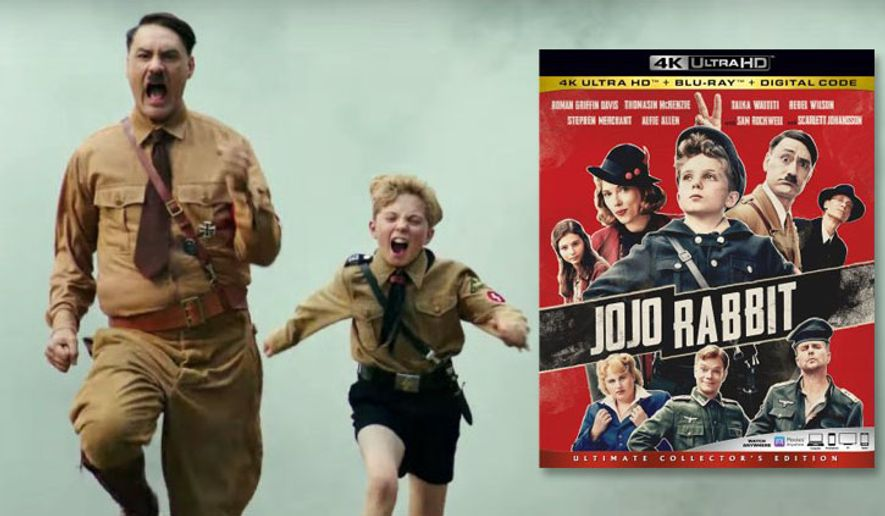 "Taika Waititi and Roman Griffin Davis star in ""Jojo Rabbit,"" now available on 4K Ultra HD from 20th Century Fox Home Entertainment."