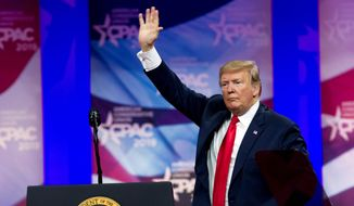 President Trump will close out the Conservative Political Action Conference this week with his appearance at the annual meeting. Since the 2016 election, Mr. Trump's takeover of the Republican Party and conservative movement has been evident at CPAC. (Associated Press)