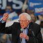 Democratic presidential candidate, Sen. Bernie Sanders, I-Vt., speaks at a campaign event in Myrtle Beach, S.C., Wednesday, Feb. 26, 2020. (AP Photo/Gerald Herbert)
