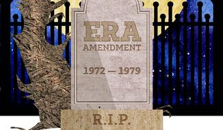 ERA Amendment Tombstone Illustration by Greg Groesch/The Washington Times