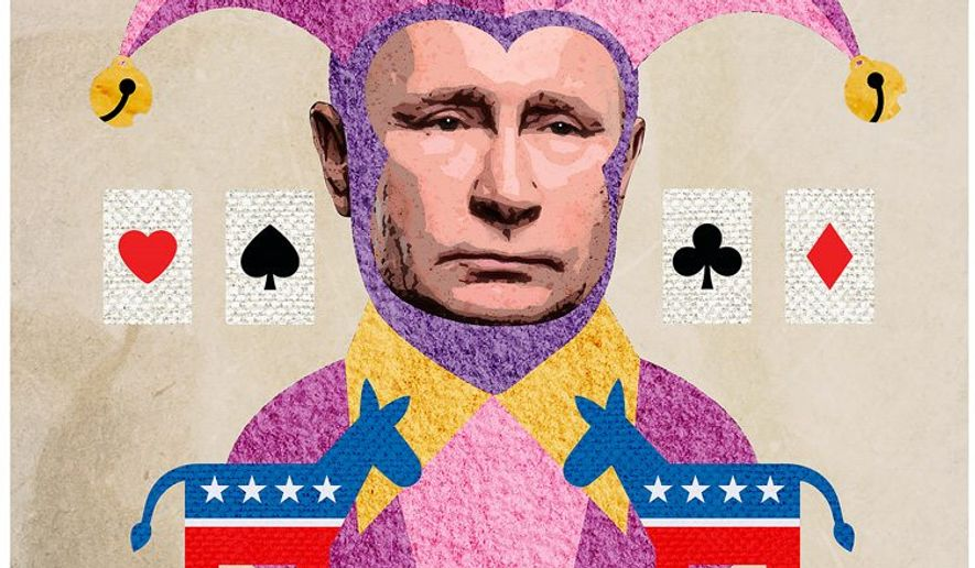 Democrats Playing the Putin and Russia Bogeyman Card Illustration by Greg Groesch/The Washington Times