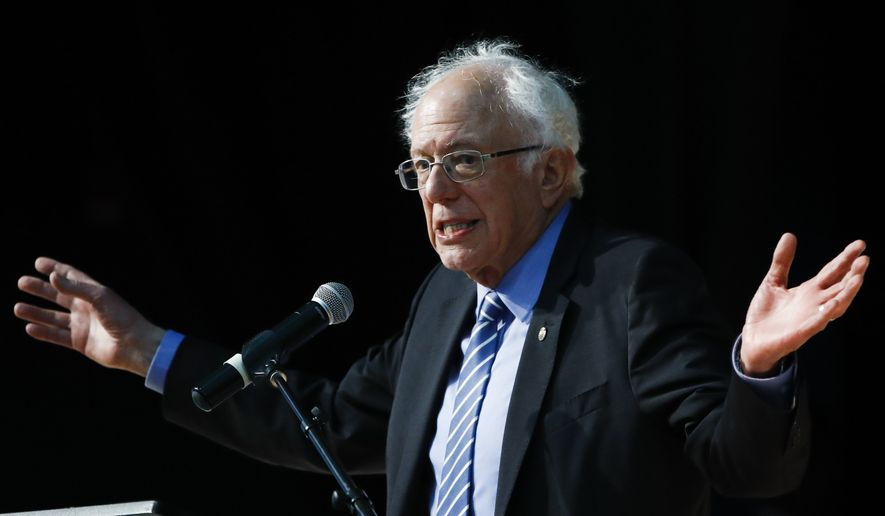 Democratic presidential candidate Sen. Bernie Sanders, I-Vt., speaks at the National Action Network South Carolina Ministers' Breakfast, Wednesday, Feb. 26, 2020, in North Charleston, S.C. (AP Photo/Matt Rourke)