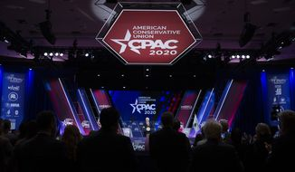 Vice President Mike Pence speaks during the Conservative Political Action Conference, CPAC 2020, at the National Harbor, in Oxon Hill, Md., Thursday, Feb. 27, 2020. (AP Photo/Jose Luis Magana) **FILE**