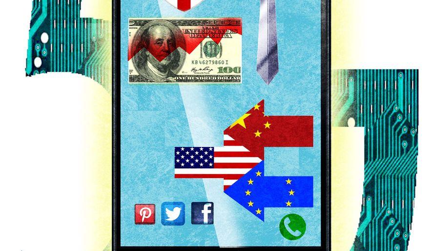 Illustration on 5G technology by Alexander Hunter/The Washington Times