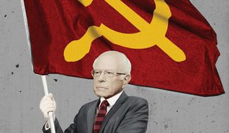 Illustration on the Communist, Bernie Sanders by Linas Garsys/The Washington Times